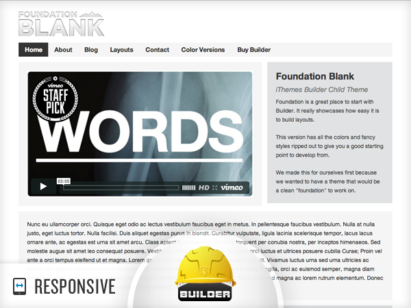 Foundation – Blank