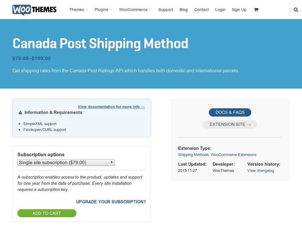 WooCommerce Canada Post