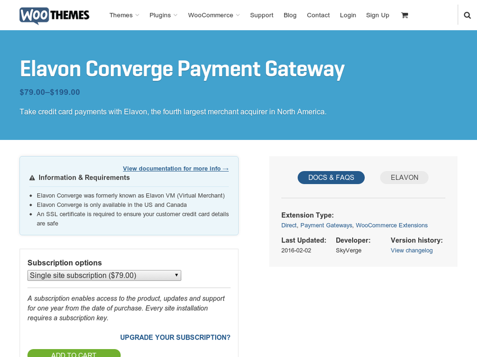 WooCommerce Elavon Converge (formerly VM) Gateway