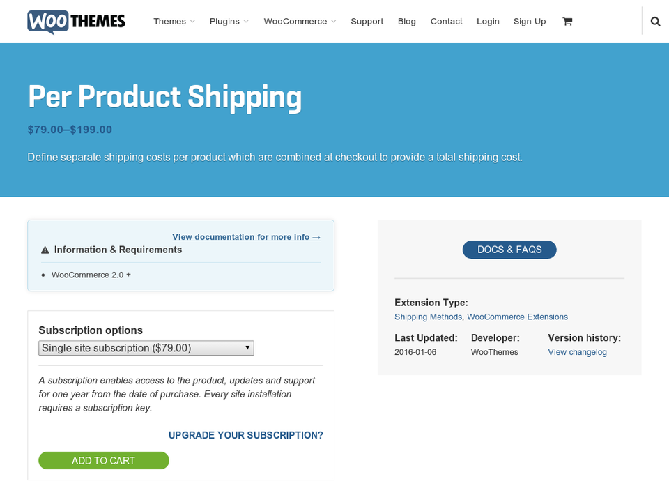 WooCommerce Shipping Per Product v2